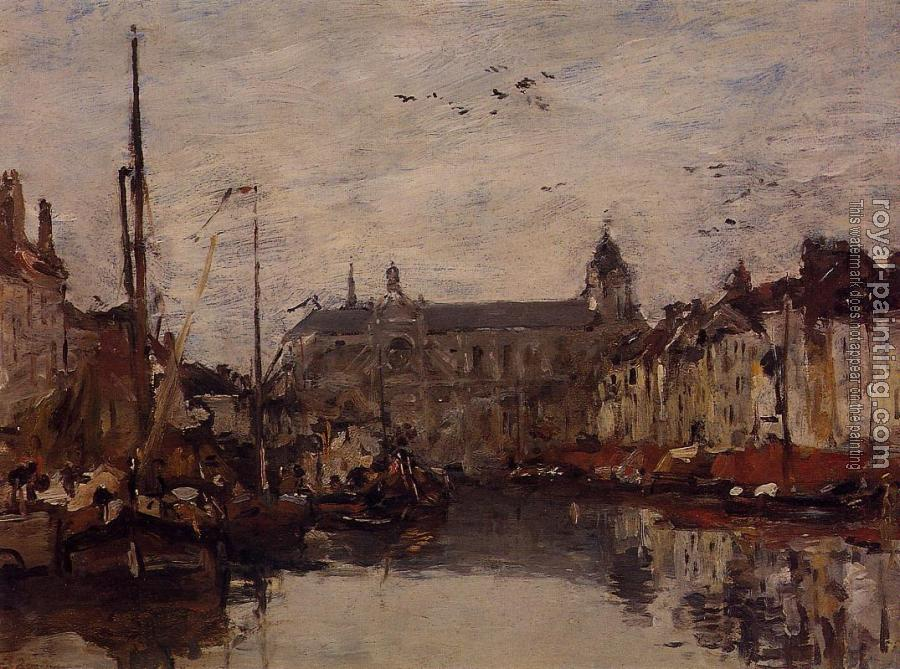 Eugene Boudin : The Merchant Dock