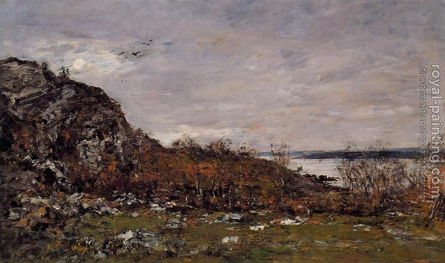 Eugene Boudin : The Mouth of the Elorn in the Area of Brest