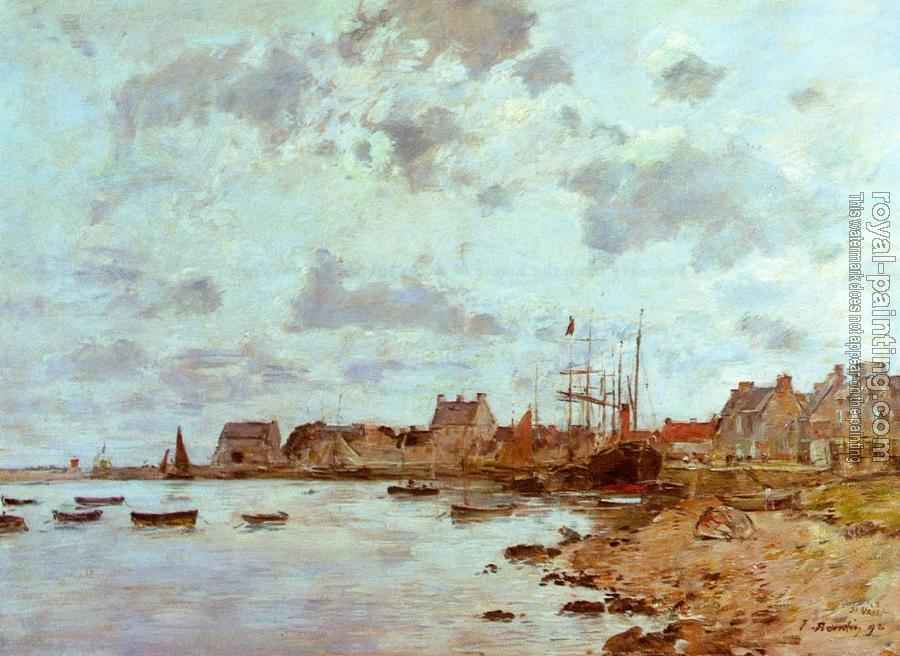 Eugene Boudin : The Port at Saint-Vaast-la-Houghe