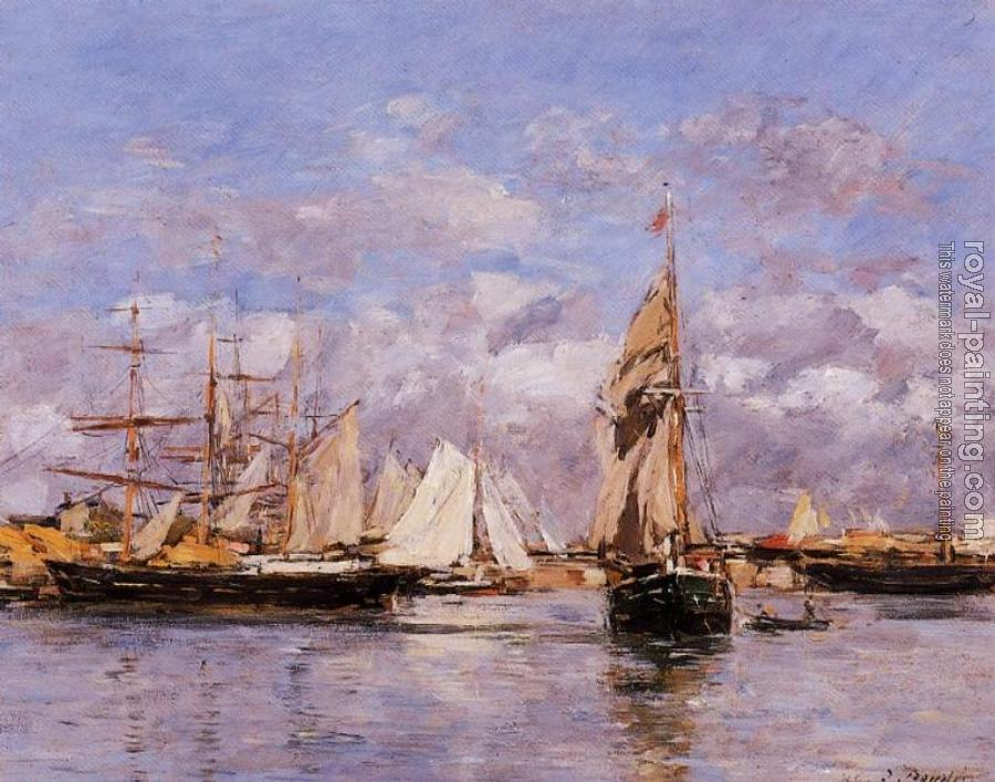 Eugene Boudin : The Port of Trouville, High Tide