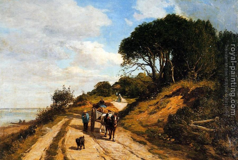 Eugene Boudin : The Road from Trouville to Honfleur