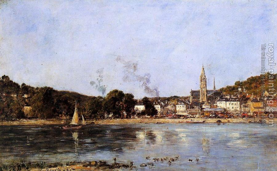 Eugene Boudin : The Seine at Caudebec-en-Caux