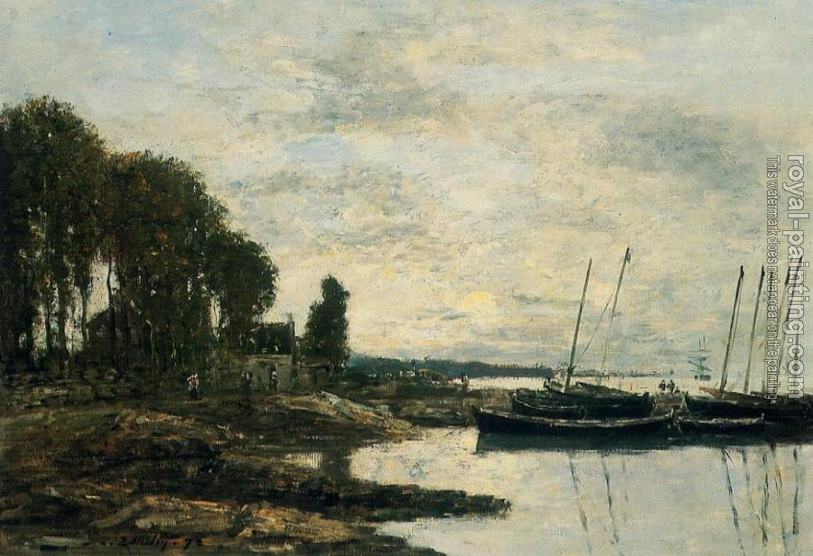 Eugene Boudin : The Shore at Plougastel