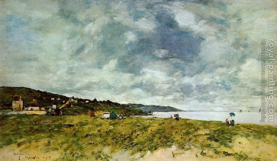 Eugene Boudin : The Shore at Tourgeville