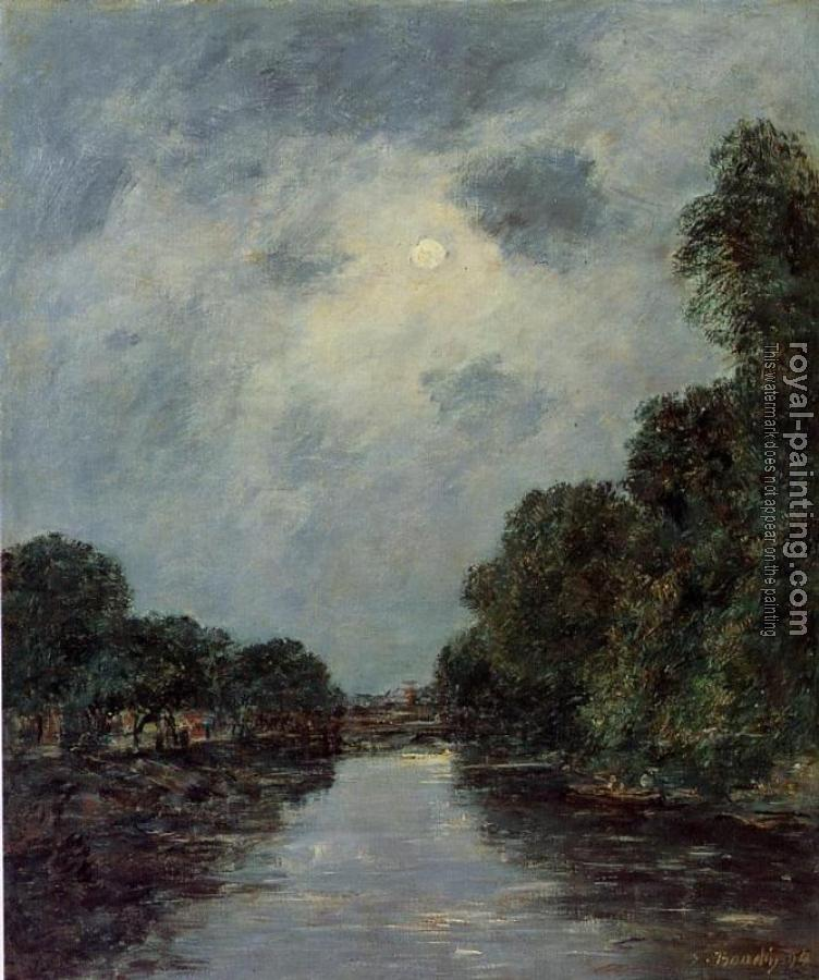 The Somme near D'Abbeville, Moonlight