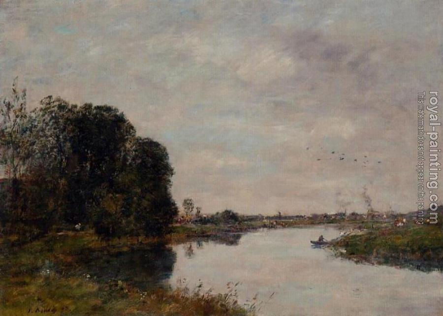 Eugene Boudin : The Toques at Saint-Arnoult