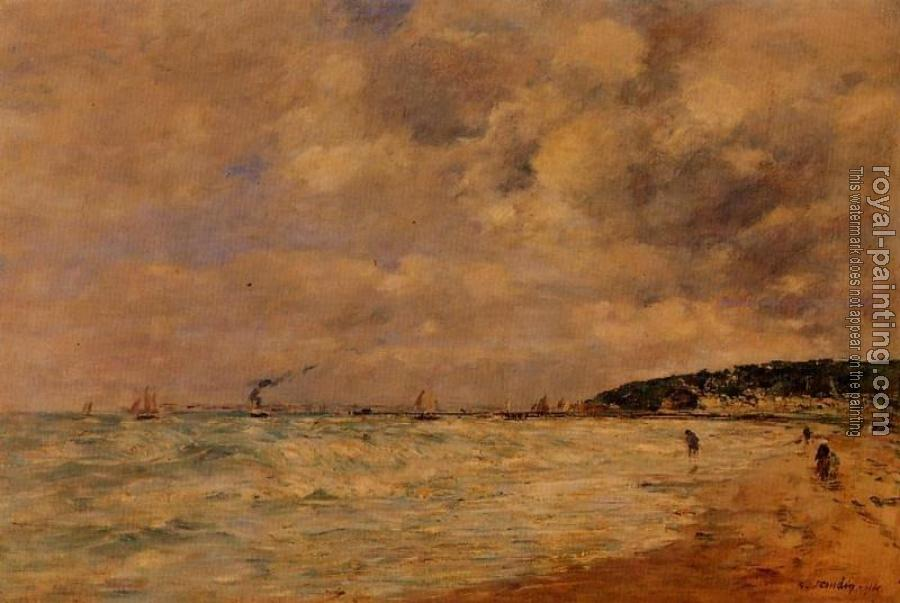 Eugene Boudin : The Tourgeville Shores
