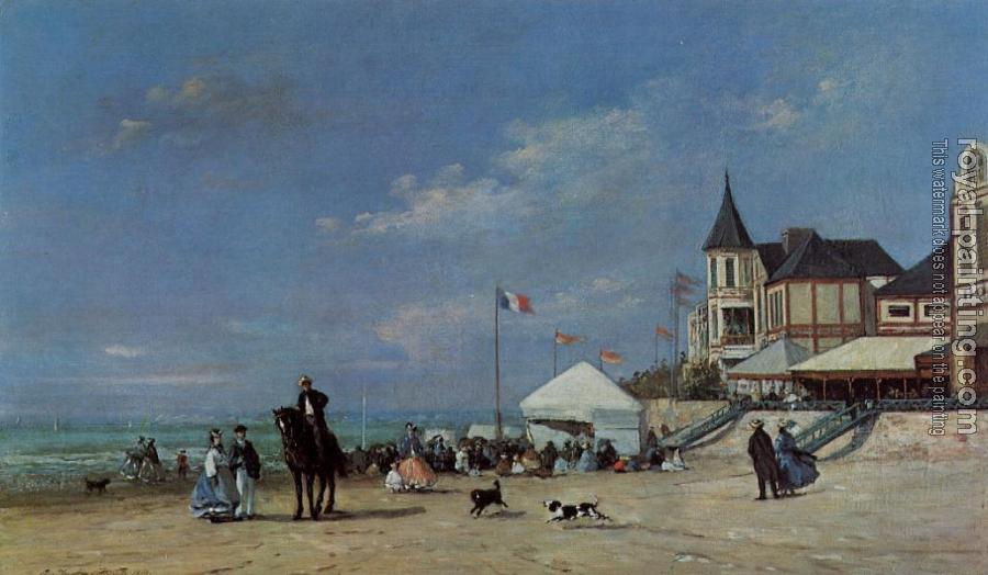 Eugene Boudin : The Trouville Beach