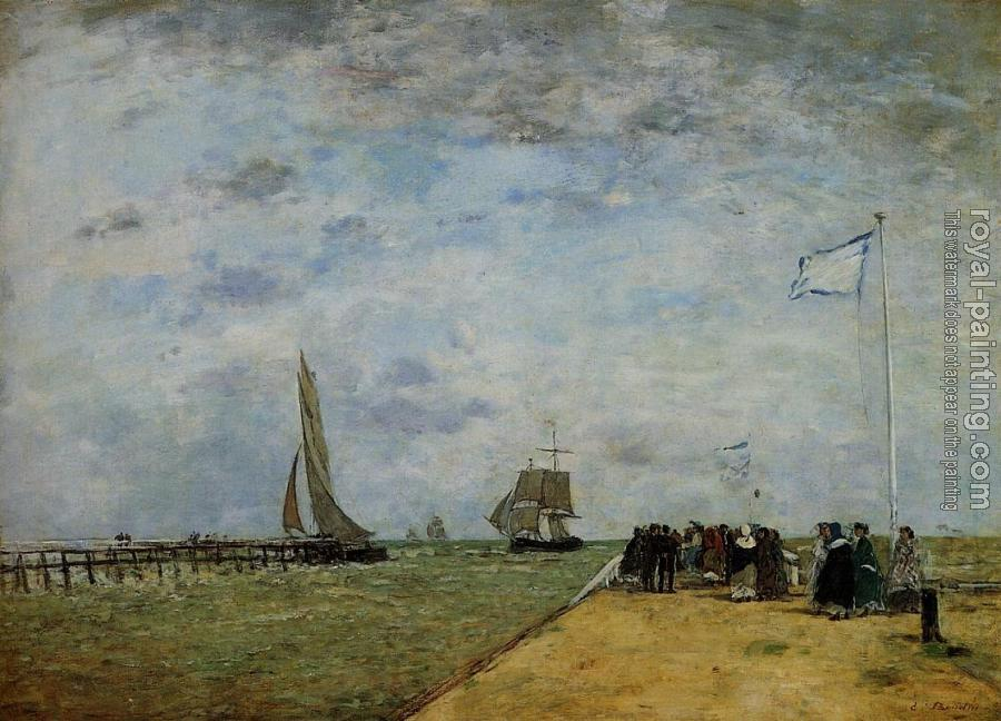 Eugene Boudin : The Trouville Jetty