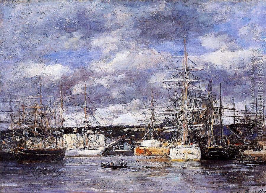 Eugene Boudin : The Vauban Basin at Le Havre