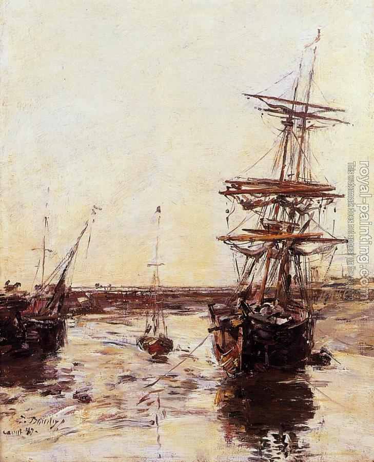 Eugene Boudin : Trouville, The Outer Harbor