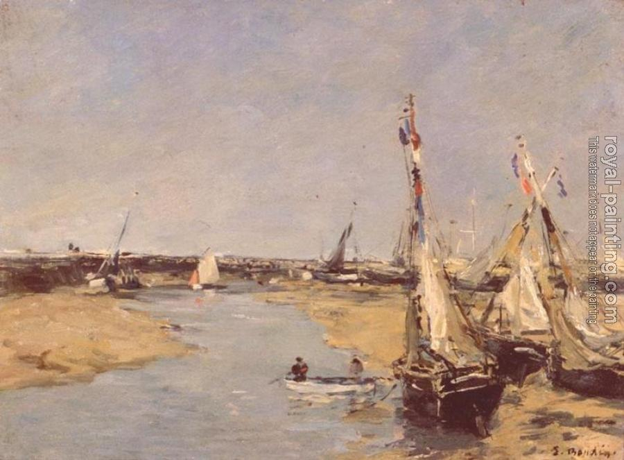 Eugene Boudin : Trouville at Low Tide