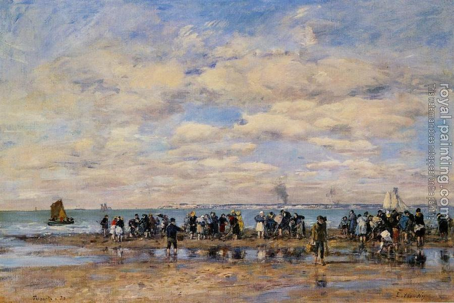 Eugene Boudin : Trouville, the Beach at Low Tide