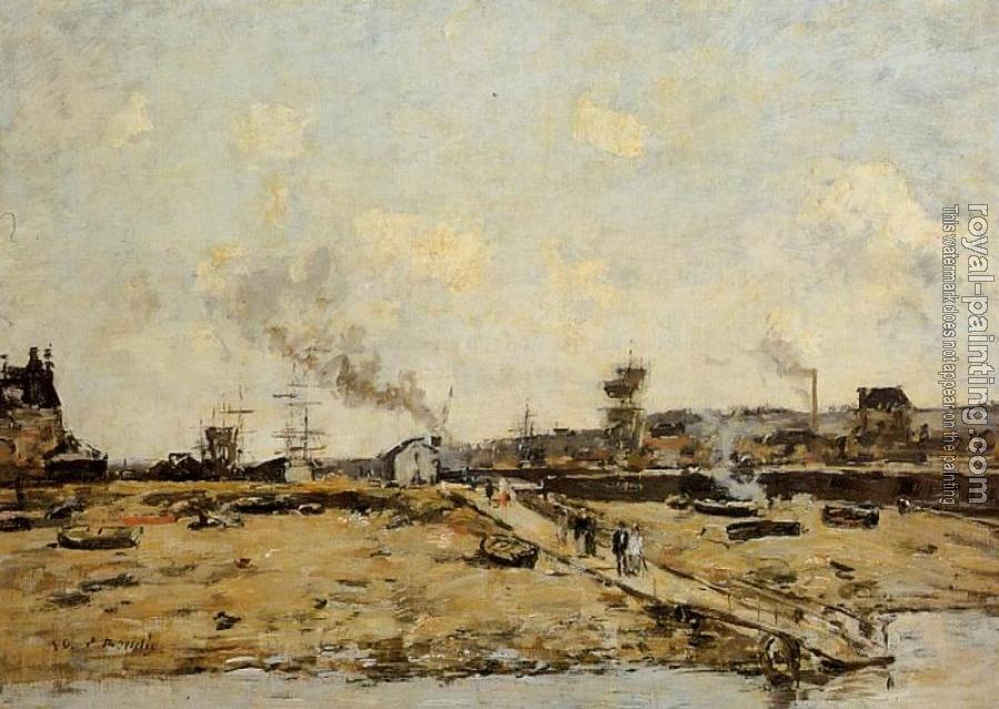 Eugene Boudin : Trouville, the Ferry to Deauville