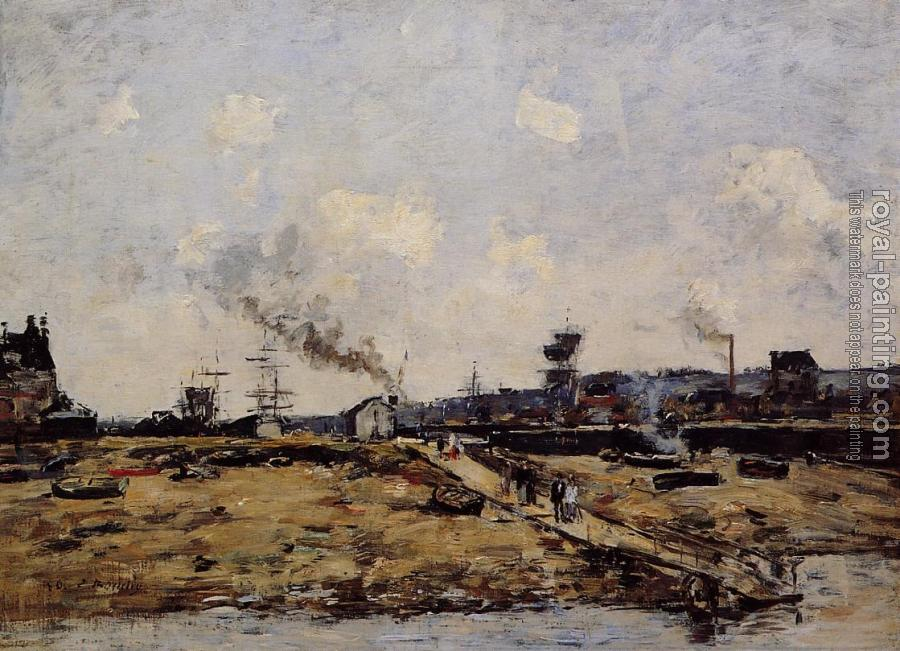 Eugene Boudin : Trouville, the Ferry to Deauville II