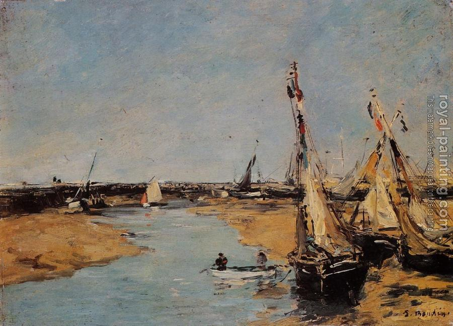 Eugene Boudin : Trouville, the Jettys, Low Tide