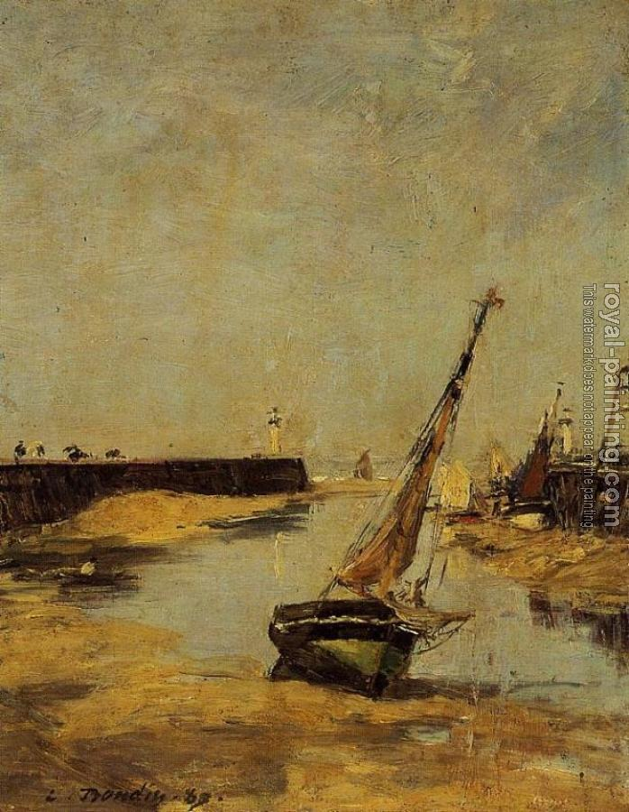 Eugene Boudin : Trouville, the Jettys, Low Tide V