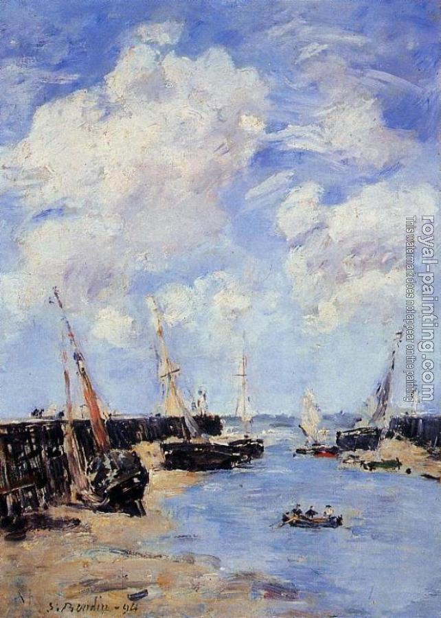 Eugene Boudin : Trouville, the Jettys, Low Tide VI
