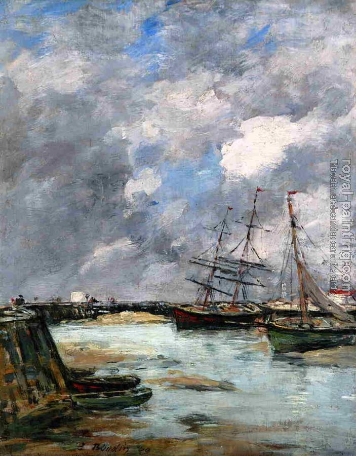 Eugene Boudin : Trouville, the Jettys, Low Tide VII