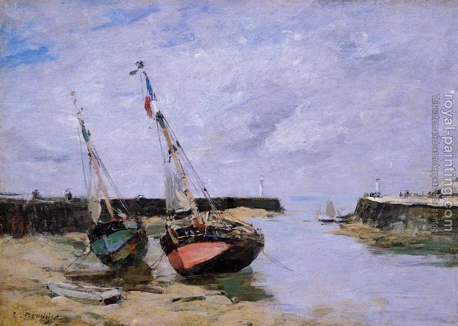 Eugene Boudin : Trouville, the Jettys, Low Tide VIII