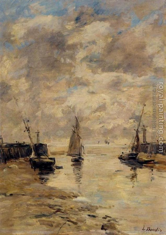Eugene Boudin : Trouville, the Jettys, Low Tide XI
