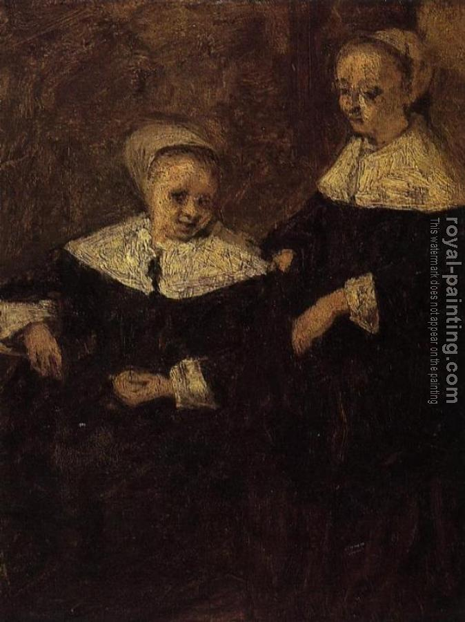 Eugene Boudin : Two Woman