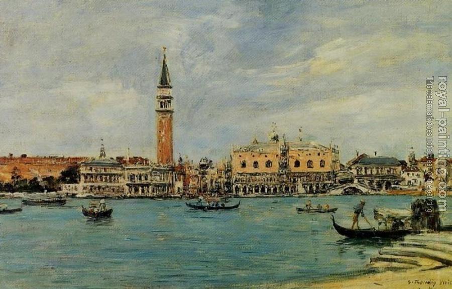 Eugene Boudin : Venice, the Campanile, the Ducal Palace and the Piazzetta
