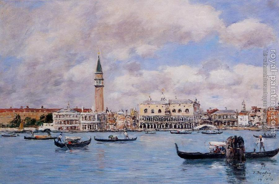 Eugene Boudin : Venice, the Campanile, the Ducal Palace and the Piazzetta II