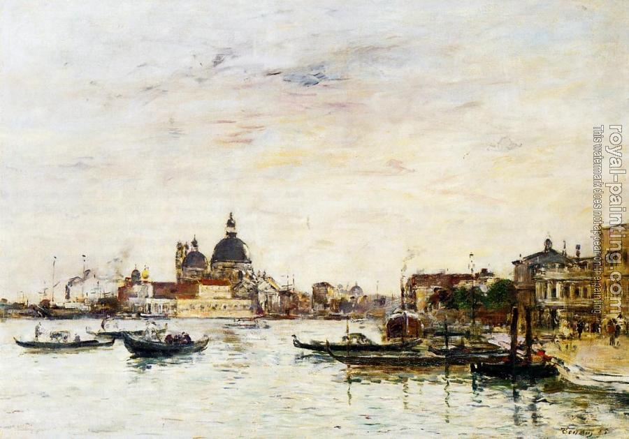 Eugene Boudin : Venice, the Mole at the Entrance of the Grand Canal