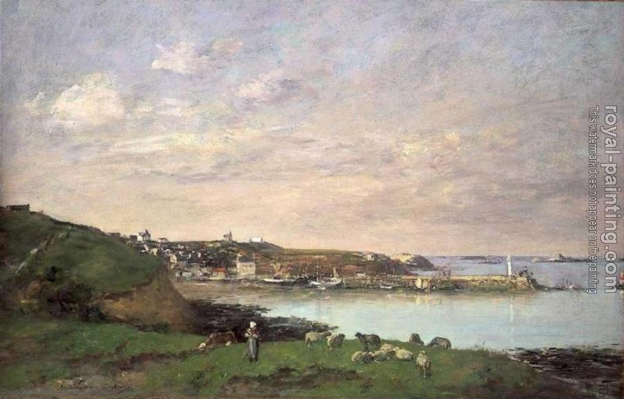 Eugene Boudin : View at Saint-Quay-Portriaux