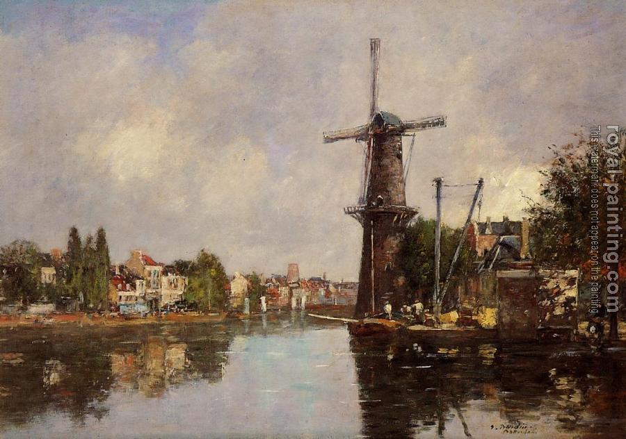 Eugene Boudin : View of Rotterdam