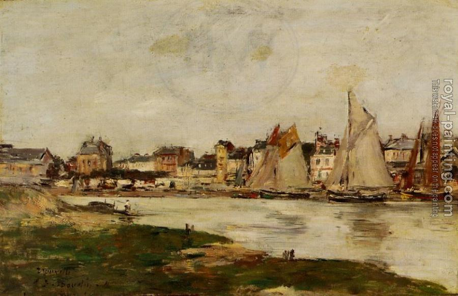 Eugene Boudin : View of the Port of Trouville, High Tide