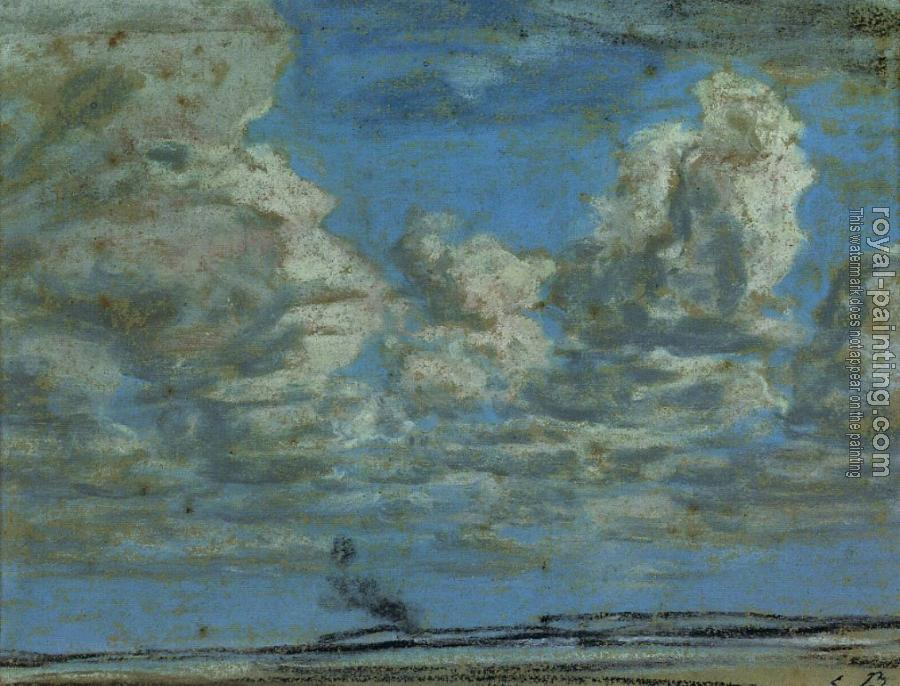 Eugene Boudin : White Clouds