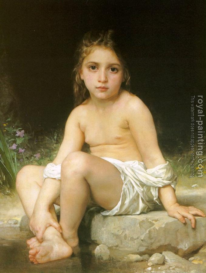 William-Adolphe Bouguereau - Child at Bath