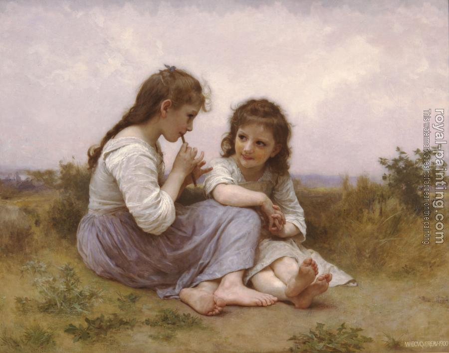 William-Adolphe Bouguereau - Two Girls (Childhood Idyll)