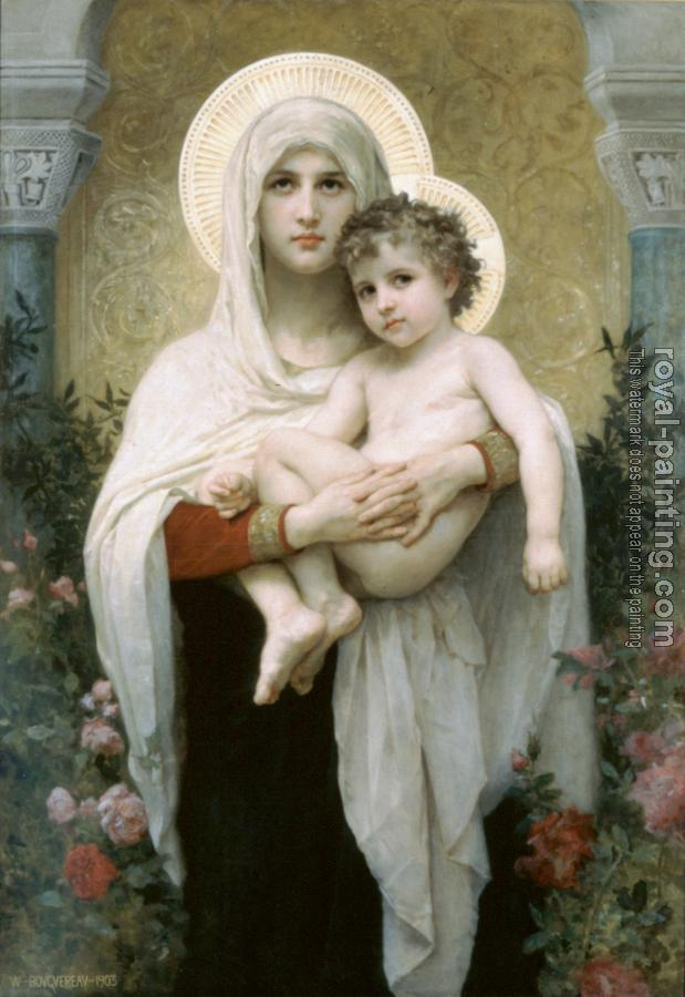 William-Adolphe Bouguereau : The Madonna of the Roses
