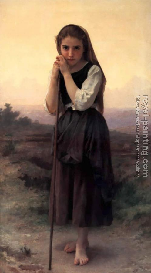 William-Adolphe Bouguereau : Little Shepherdess