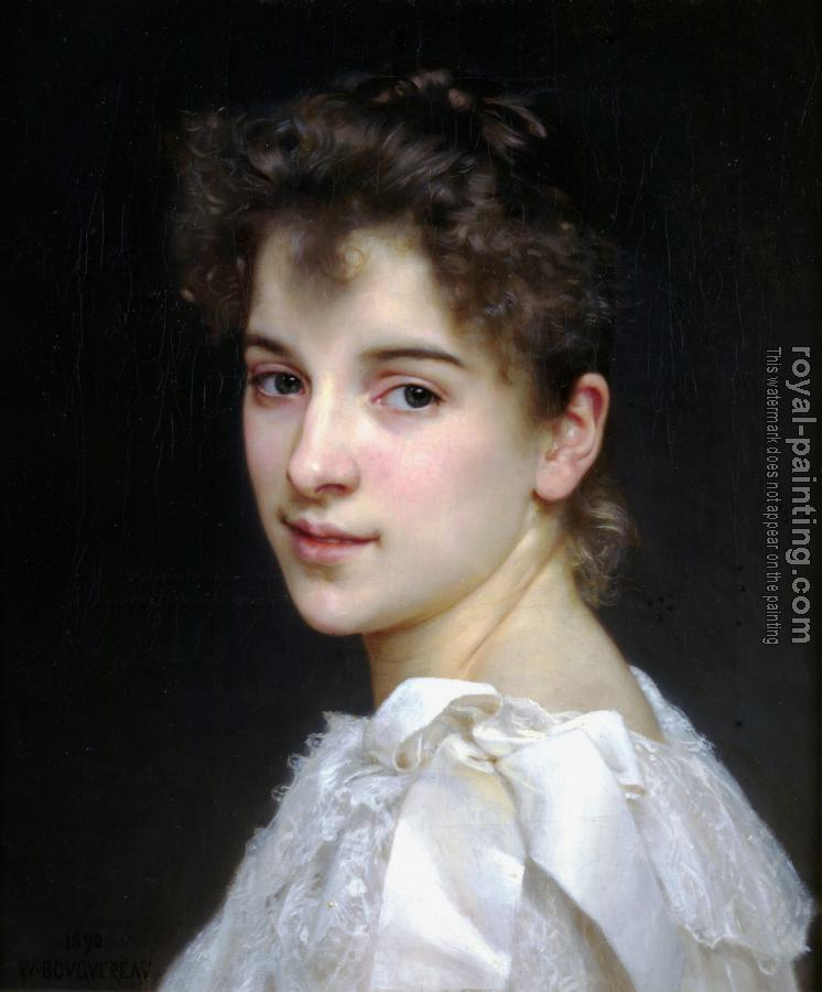 William-Adolphe Bouguereau : Portrait of Gabrielle Cot