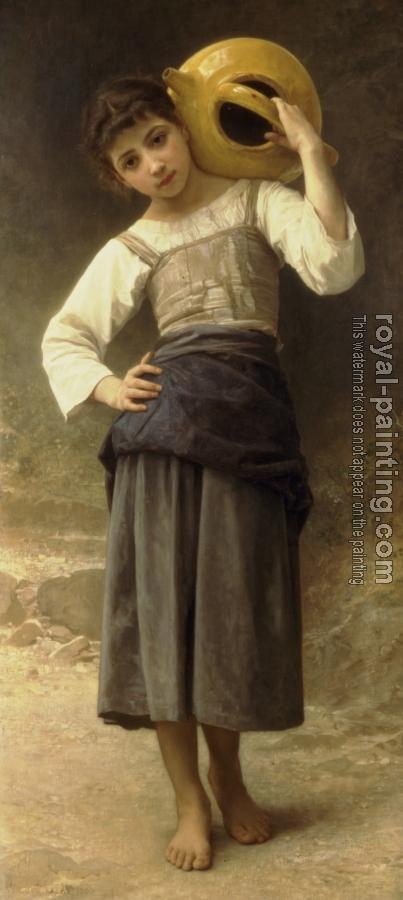 William-Adolphe Bouguereau : Young Girl Going to the Fountain