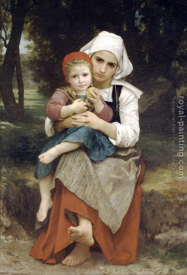 William-Adolphe Bouguereau : Breton Brother and Sister