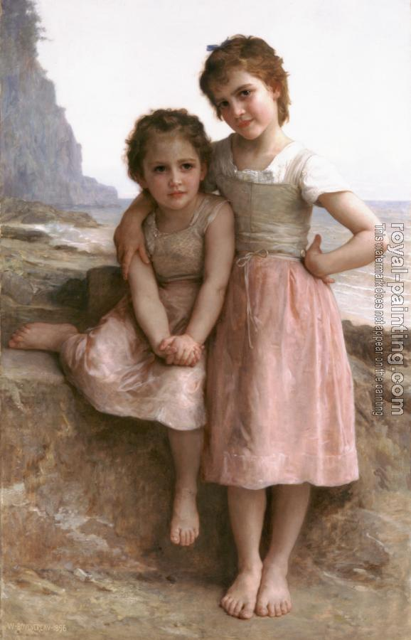 William-Adolphe Bouguereau : On the Rocky Beach