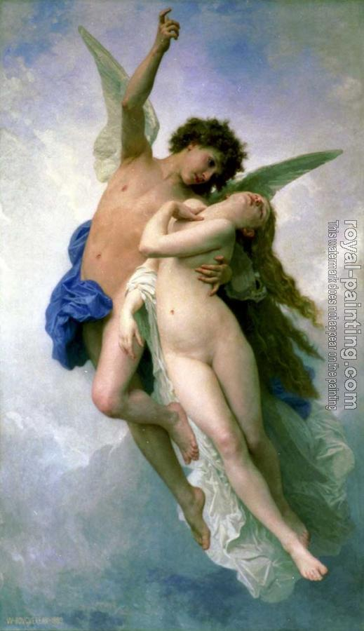 William-Adolphe Bouguereau : Psyche and Cupid
