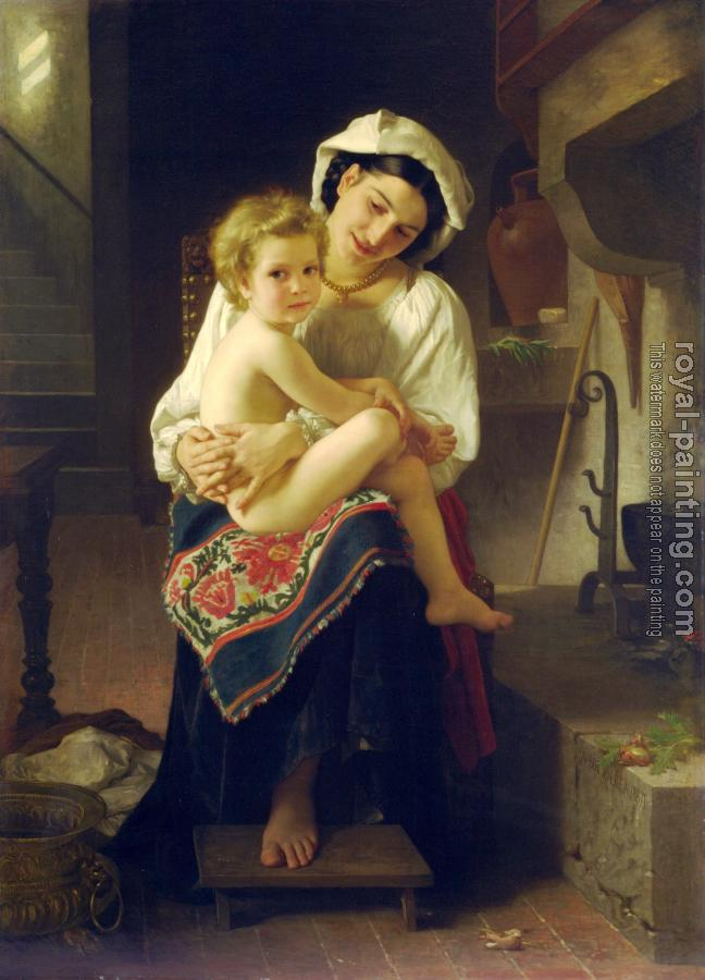 William-Adolphe Bouguereau : Le Lever (Up You Go)