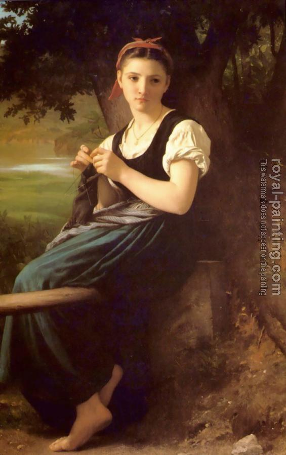 William-Adolphe Bouguereau : Tricoteuse(The Knitter)