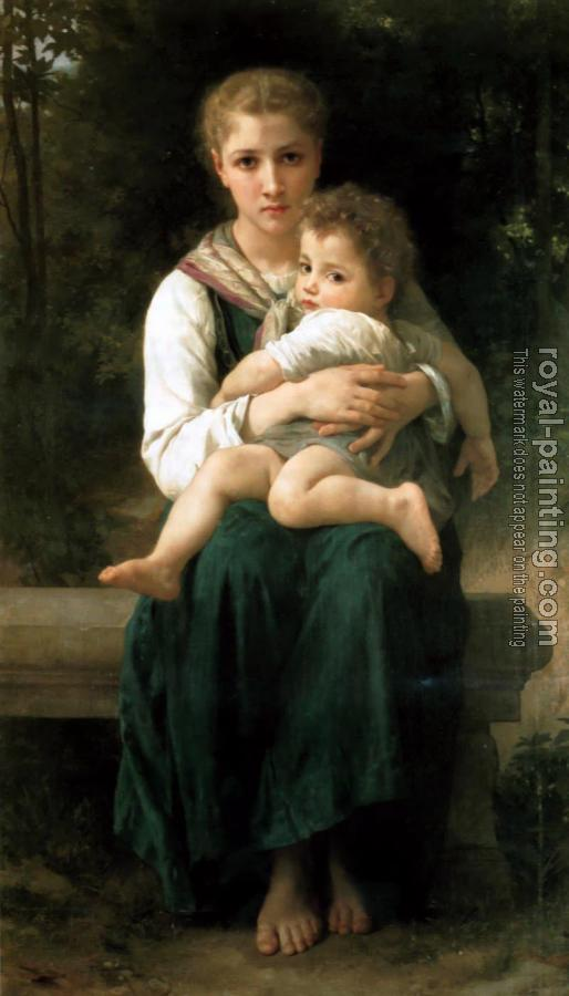 William-Adolphe Bouguereau : Les Deux Soeurs(The Two Sisters)