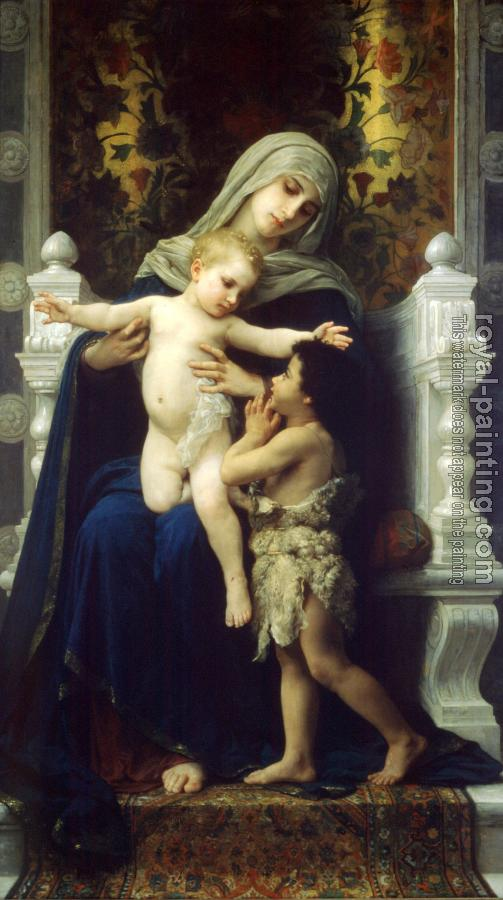 William-Adolphe Bouguereau : La Vierge, L'Enfant Jesus et Saint Jean Baptiste (The Virgin, Baby Jesus and Saint John the Baptist)