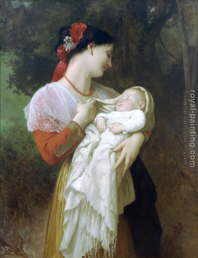 William-Adolphe Bouguereau : Admiration Maternelle (Maternal Admiration)