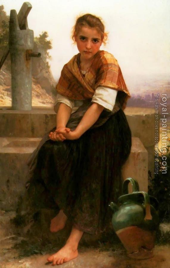 William-Adolphe Bouguereau : La Cruche Cassee (The Broken Pitcher)