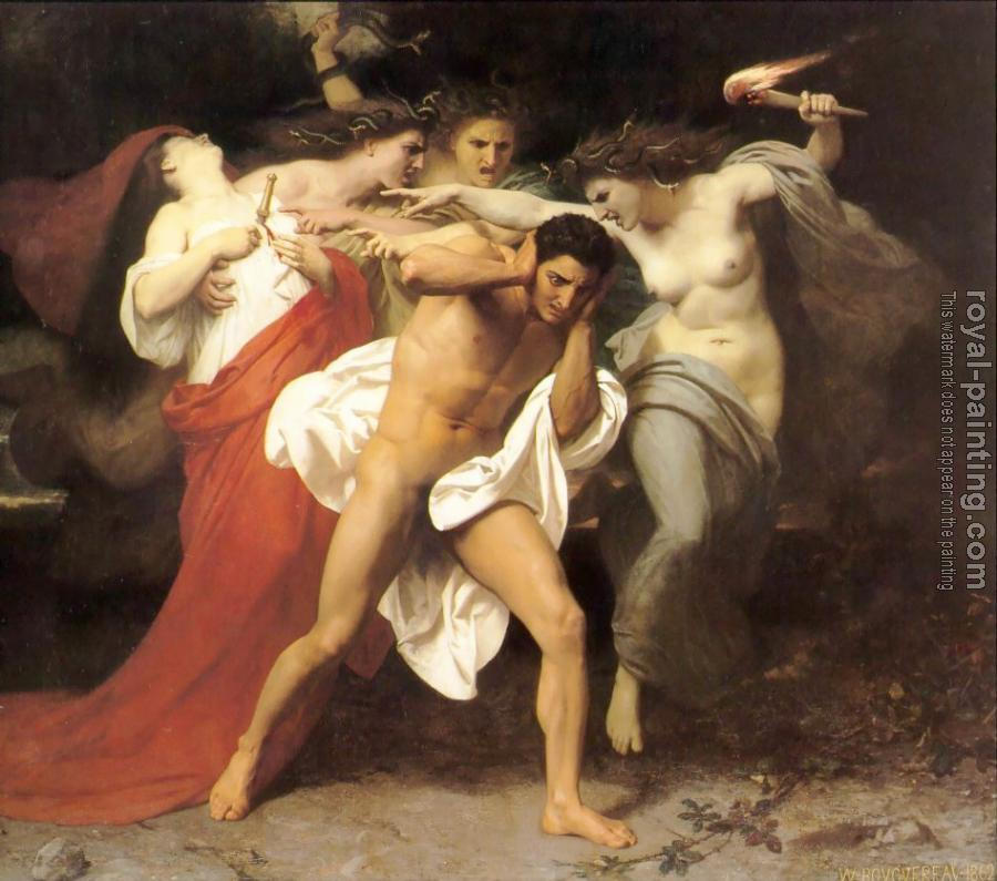 William-Adolphe Bouguereau : Les Remords d'Oreste (The Remorse of Orestes, Orestes Pursued by the Furies)