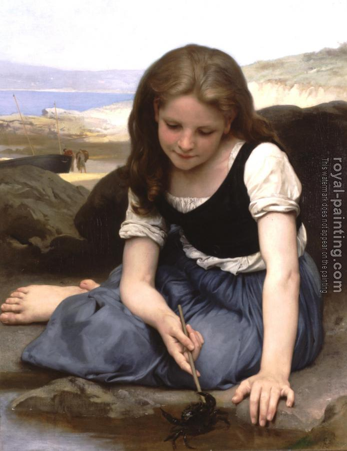 William-Adolphe Bouguereau : Le crabe, The Crab